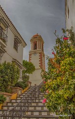"""""""Steps to the Bell Tower"""" - Estepona (davidh46) Tags: spain andalucía estepona belltower tower steps streetscene hdr"""