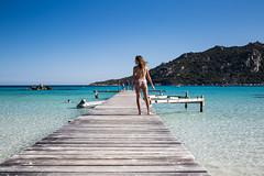 Santa Giulia (Clic Clac 2956) Tags: corse corsica fille bikini ponton plage beach mer sea santagiulia sexy femme woman paysage landscape