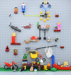 LEGO antiques📦 (Alex THELEGOFAN) Tags: lego legography minifigure minifigures minifig minifigurine minifigs minifigurines spongebob crazy machine antiques duck table cannon lazer firework boat bike bottle zap zappy sparky electro