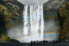 Doble Rainbow yesterday in Skógarfoss, Iceland. (amanecer334) Tags: iceland water waterfall skogarfoss skogar south river rainbow nature lanscape tourists travel traveller trip roadtrip explore discover world europe green power