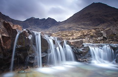 In the Fairy Pools looking out (PeterYoung1.) Tags: atmospheric beautiful isleofskye falls fairypools landscape hills nature rocks scenic peteryoung1 river scotland scottish skye uk waterfall water
