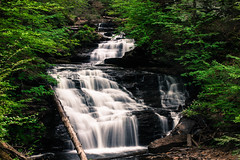 Ricketts Glen Waterfall 5 (Ken Kohl) Tags: water contrast speed landscape waterfall high slow glen shutter dreamy seconds ricketts
