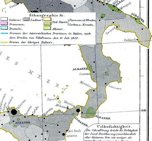 Insediamenti Albanesi - Italia 1859