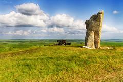Teter Rock with Cow (Kansas Poetry (Patrick)) Tags: cow kansas flinthills santafetrail teterrock teterville patrickemerson patricknancylookatcow