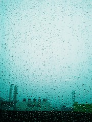 Chennai Rain Mystery! (McGun) Tags: building window glass rain chennai dlf porur