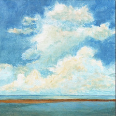 Memories of the Ocean (PetiteMalou) Tags: ocean sea summer beach clouds seaside originalpainting