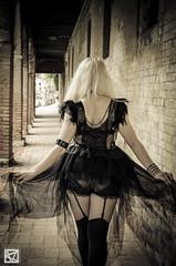 Greta-21 (marcellomasiero) Tags: venice beauty nikon blonde blackdress sexydress gothicdress nikond7000