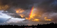 Partial rainbow (ChronoSapien) Tags: texture colors clouds landscape skies rainbows westcoast foveon sigmadp2 sigmamerrill