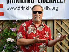 flowered shirt competition winner balancing Jimmy Buffett's lost shaker of salt - DL MSP
