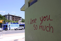 I Love You So Much (Gravitar Photography) Tags: street urban usa building bus love car wall austin photography graffiti photo paint texas image you photos tx images much iloveyousomuch i so