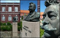 Thorvald Niss - the unknown Skagen Painter (Jens Rost) Tags: statue bust painter buste maler funen assens thorvaldniss 130618assenscollage045 fun