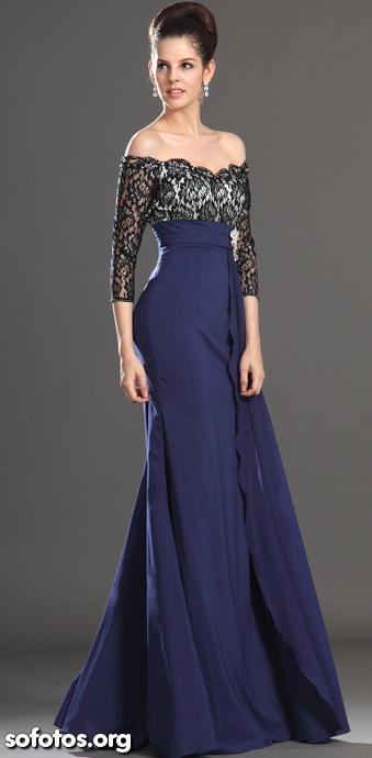 Vestido de festa azul 2013