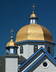 Ukranian Orthodox Church of St. Mary (gordeau) Tags: church religion dome gold threecolours architecture stmary ukranianorthodox surrey bc gordon ashby gordeau explored thechallengefactory flickrchallengegroup flickrchallengewinner