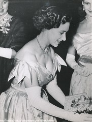 H.R.H.Princess Margaret (romanbenedikhanson) Tags: 1954 eveninggown princessmargaret charityconcert lowcutgown lowdecolletage
