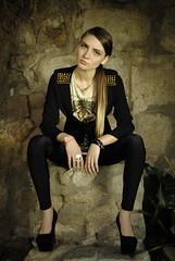 (Pala brotas) Tags: portrait black girl fashion female model eyes suits longhair blond garcone