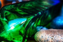 Glass (hbmike2000) Tags: color macro green glass rock closeup nikon smooth d200 curved hdr timeless hoya cornered odc closeuplens hoyacloseuplens hbmike2000