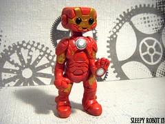 Ironbot (Sleepy Robot 13) Tags: cute robot diy handmade robots polymerclay fimo comicbook kawaii sculpey etsy urbanvinyl marvel sculpting smallbusiness sleepyrobot13 polymerclayurbanvinylsleepyrobot13etsysilvercraftcraftscraftingsculptingsculpturefigurinearthandmadecraftshowcutekawaiirobots
