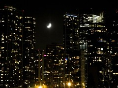 . (Kate Hedin) Tags: park carnival moon lake chicago water wheel skyline night lights amusement pier illinois play waterfront navy carousel ferris swing nighttime twirl