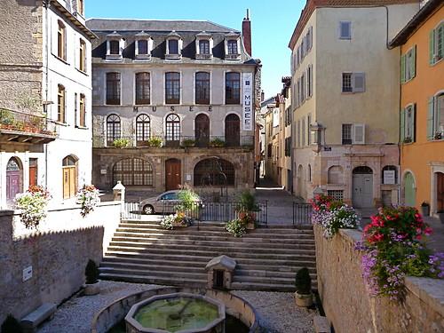 Villefranche de Rouergue , place de la fontaine , Aveyron
