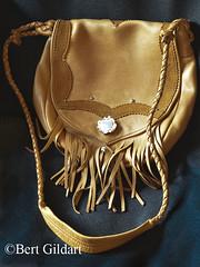Buckskin purse