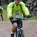 Jeremy Parker of the NFU Mutual Forfar office gets in gear for the mountain bike section. Photo courtesy of Karen Carruth, The Scottish Farmer