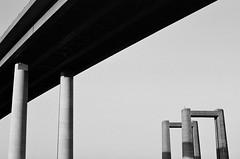 Canon AL-1 + Canon FD 50mm lens (Daniel Cane) Tags: bridge blackandwhite white black film thames architecture 35mm canon island 50mm coast kent chinese bridges iso 35mmfilm 400 coastline analogue fd 400iso canonal1 sheppey isleofsheppey swale c41 thamesestuary al1 fdlens unbranded theswale unbrandedchinesefilm