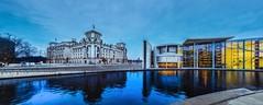 Berlin Regierungsviertel (Berlin government district) (berlin-belichtet.de) Tags: reflection berlin river germany bank olympus reichstag shore bluehour ufer spree bundestag spiegelung spiegelbild regierungsviertel mirroring blaue stunde flus spreeufer epl5 ernstldershaus