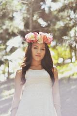 (Sunshine Thief) Tags: summer cute nature beauty field vintage woodland 50mm nikon portraiture crown headdress headgear d90 flowercrown