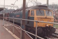 47555 The Commonwealth Spirit 4th Feb 1986 Ipswich (Ian Sharman 1963) Tags: street london station train liverpool diesel spirit engine 4th loco class norwich passenger feb 1986 commonwealth duff 47 ipswich the 47555