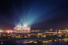 Atlantis Hotel Dubai (Charn High ISO Low IQ) Tags: longexposure night dubai uae spotlight unitedarabemirates hdr atlantishotel thepalmjumeirah canon6d hdrefexpro2 newyear2014celebration