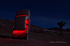 "Roadmaster Road Kill at the ""International Car Forest of the Last Church"" (eoscatchlight) Tags: nightphotography lightpainting nevada nighttime afterdark topaz goldfield canonef28mmf18usm internationalcarforestofthelastchurch"