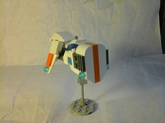 Spaceship 3 (Jandyman) Tags: blue orange white brick toy construction ship lego space micro spaceship block build federation galactic microscale flickrandroidapp:filter=none constructionblock