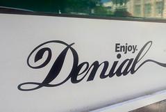 Enjoy... (iainwalker) Tags: city white reflection facade text satire melbourne enjoy font denial bourkestreet 2014 brienlane enjoydenial samsunggalaxys2