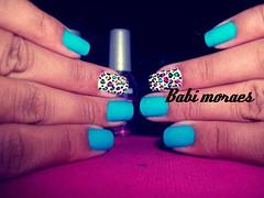 ] (Babi moraes) Tags: art love azul amor nail paixão unhas nailart adoro oncinha esmalte esmaltação