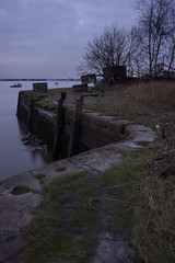 At the Harbour (delphwynd) Tags: tripod before beforeandafter fishingboat thursday riverforth oldharbour leadinglines theshore oneriver