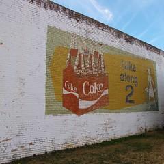 Take along 2 (Gerry Dincher) Tags: mainstreet northcarolina rowland robesoncounty mappingmain coke cocacola cocacolasign cokesign northcarolinahighway130 takealong2 ghostsign gerrydincher