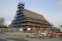 St Maries Church, Lugsdale Road, Widnes, Cheshire (bm1551cc) Tags: church scaffolding cheshire builders catholicchurch oldchurch widnes halton churchroof stmarieschurch lugsdaleroad