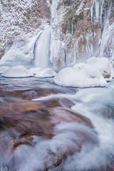 Winter's Return (Michael Bollino) Tags: winter snow cold ice oregon creek waterfall pacificnorthwest icicles columbiarivergorge wachlellafalls