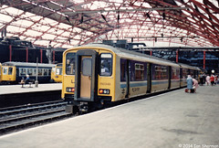 150248 27th June 1987 Liverpool Lime Street (Ian Sharman 1963) Tags: street station june train liverpool diesel 1987 engine class 150 multiple scarborough passenger lime 27th unit sprinter dmu 150248