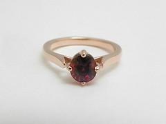ガーネットの指輪 garnet ring (jewelrycraft.kokura) Tags: 指輪 pinkgold garnet ガーネット ピンクゴールド