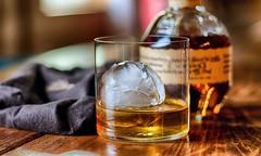 Glass of Blanton's (Curt McAdams) Tags: borderfx
