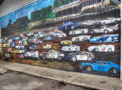 Legendary Pennsboro Speedway (WVJilly) Tags: 365the2017edition 3652017 day59365 28feb17 pennsboro wv westvirginia speed speedway race track dirt car auto mural
