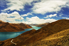 One of my favorites - Yamdrok Tso (Turquoise) Lake, Tibet (April 2000) (Katarina 2353) Tags: katarina2353 katarinastefanovic