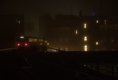 beyond Tyrell (grapfapan) Tags: fog night kreuzberg linie1 gleisdreieck ubahn berlin germany urban