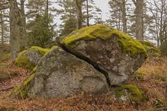It's a match (Yvonne L Sweden) Tags: rock devided sten landscape march nature delad sweden roadtrip half