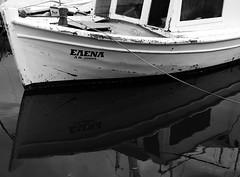 You 're still beautiful... (Michael Kalognomos) Tags: monochrome blackwhite bw boat canoneos70d ef24105mmf4l dock sea helen greece abandonment mirror reflection
