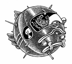 Joy ride (Don Moyer) Tags: spaceship space sphere ride ink drawing sketchbook moyer donmoyer brushpen