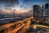 Kowloon Bay, Hong Kong (mikemikecat) Tags: kowloonbay hongkong nightscape night road building twilight cityscapes carlzeiss fe1635mm sel1635z a7r sony street urban 夜景 建築 lighttrails 城市 hdr sunset magicmoment