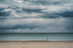 Stormy on the beach (Georgi C) Tags: stormy storm street streetphotography nature landscape rain lonelypeople lonely people fujifilmxe2s fuji fujifilm xe2s voigtlander nokton voigtlandernoktonclassicf14