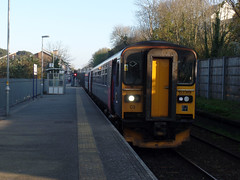 153305 & 153369 Penryn (2) (Marky7890) Tags: gwr 153305 153369 class153 supersprinter 2t88 penryn railway cornwall maritimeline train